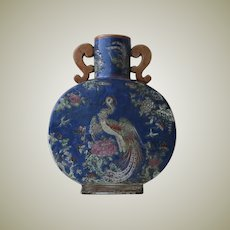 Decorative antique Chinese Moon Flask