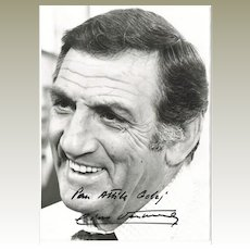 Lino Ventura Autograph. Signed Photo. CoA