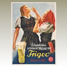 Advertising Postcard for German Soft Drink