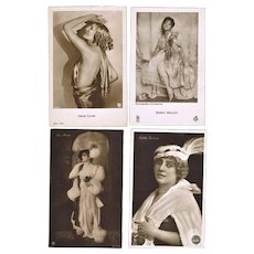 Ten old Photo Postcards of  Actresses in Fancy Cloths