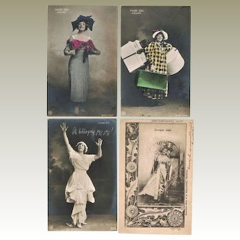Eleven old Photo Postcards of  pretty Actresses from Europe
