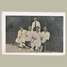 Old photo with Tennis Players c. 1915