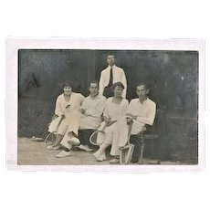 ca. 1915: Old photo of Tennis Players.