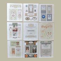 Nine Secessionist Hoffmann Studio Lithographs. Authentic Graphics