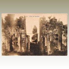 Ruins at Ayuthia Old Postcard Siam