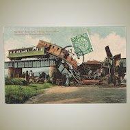 China Revolution Postcard Railway Accident 1912