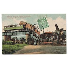 China Revolution Postcard Railway Accident 1912