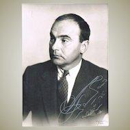 German Prince Johannes von Thurn und Taxis Autograph plus Letter. CoA