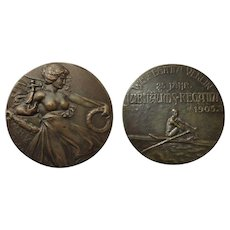 Attractive Bronze from Vienna: Regatta Medal 1905