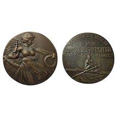 Attractive Bronze from Vienna: Regatta Medal 1905