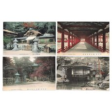 Seven old Japanese Postcards Famous Scenic Spots