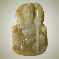 Old Chinese Jade Pendant with Figure