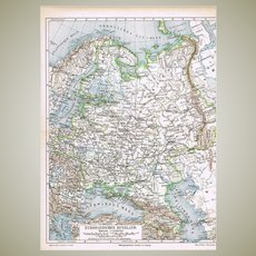 Three Antique Maps related to Russia and related Area from 1898