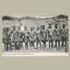 Old Mombasa Postcard with Wuika Women