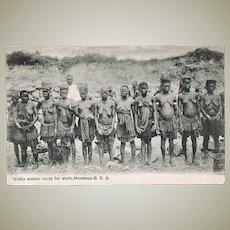 Old Mombasa Postcard with Wuika Women