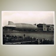 Zeppelin LZ 127 after Landing - old Photo Postcard from 1929