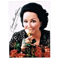 Montserrat Caballe Autograph on Colour Photo. 5 x 7