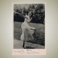 Important Dancer Palucca Autograph on Photo. CoA