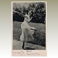 Important Dancer Palucca Autograph on Photo. CoA