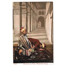 Muslims Praying. Vintage Postcard from c. 1910