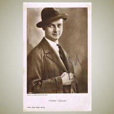 Old Walter Slezak Autograph, signed Photo. CoA