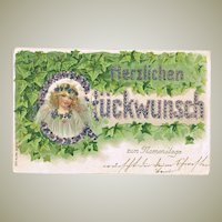 Most Decorative Postcard from 1906 Name Day
