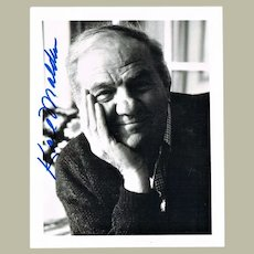 Karl Malden Autograph. Signed Photo. CoA