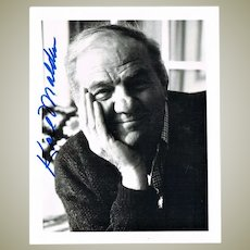 Karl Malden Autograph. Signed Photo. CoA