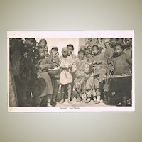 Old Chinese Postcard with Street Urchins