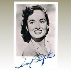 Ann Blyth Autograph. Hand signed Photo. CoA