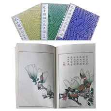 Famous Mustard Seeds Garden Books Color Woodblock 芥子园