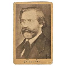 Antique Giuseppe Verdi Photograph Authentic CdV