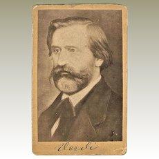 Antique Giuseppe Verdi Photograph Authentic CdV