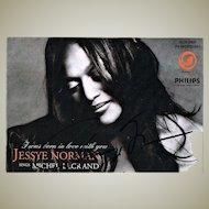 Opera Singer Jessye Norman Autograph, CoA