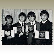 The Beatles Vintage Postcard receiving Medals in 1963