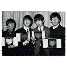 The Beatles Vintage Postcard receiving Medals in 1963