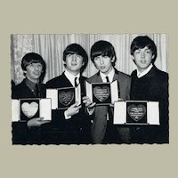 Beatles Vintage Postcard with Golden Records from the 1963