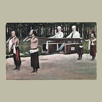 Old Chinese Postcard Travelling in a Sedan Chair