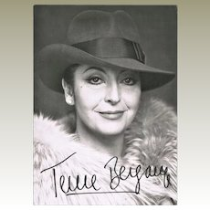 Teresa Berganza Autograph on Photo 5 x 7 CoA