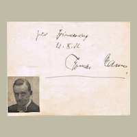 Thomas Mann Autograph. Authentic Signature from 1932