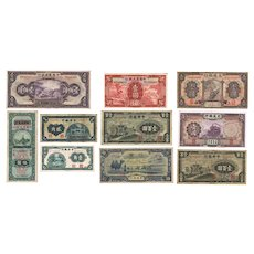 Old China Banknote Lot of 10