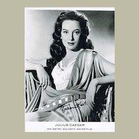 Deborah Kerr Autograph on 8 x 12 Photo CoA