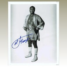 Joe Frazier Autograph Hand signed Photo. CoA. Plus Extra Print.
