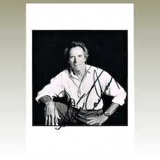 Clint Eastwood Autograph on Portrait Photo CoA