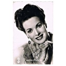 Maureen O' Hara Autograph on Photo CoA