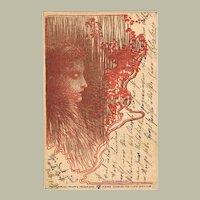 Scarce Art Nouveau Postcard by Philipp & Kramer.