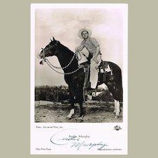 Audie Murphy Autograph. Hand-signed Photograph. CoA