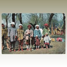 Old Kashmir Postcard with Warriors, Shooting Party