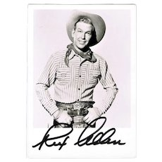 Rex Allen Autograph. Hand-signed Photo. CoA