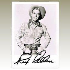 Rex Allen Autograph. Hand-signed Photo. CoA